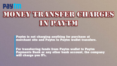 Money Transfer charges in paytm