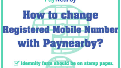 How to change registered number with paynearby