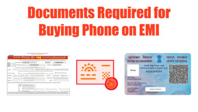 documents required for buying phone on EMI