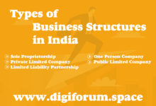 types of business structures in india